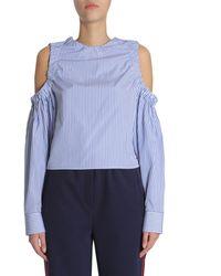 Tommy Hilfiger Women's Rw0rw00618906 Light Blue Cotton Jumper