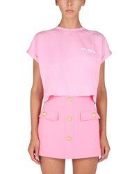 Balmain ANDERE MATERIALIEN T-SHIRT - Pink
