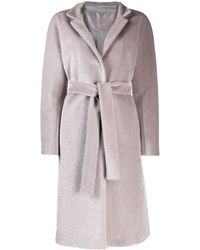 Herno Belted Wrap Overcoat - Gray