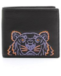 KENZO Black Leather Wallet
