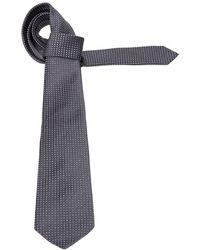 Kiton Grey Silk Tie - Gray