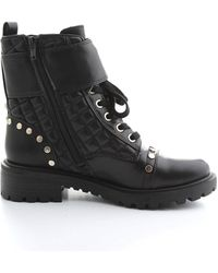 Guess Black Leather Ankle Boots