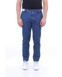 Incotex Leather Jeans - Blue
