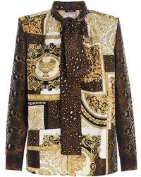 Versace Women's A883761f004565n030 Multicolour Other Materials Shirt - Metallic