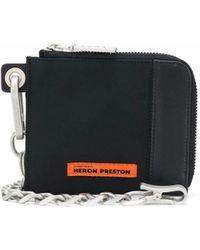 Heron Preston Logo-patch Zip Wallet - Black