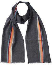 Paul Smith - Grey Wool Scarf - Lyst