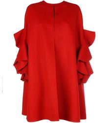 RED Valentino Red Wool Poncho