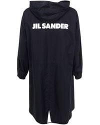 Jil Sander BAUMWOLLE TRENCH COAT - Blau
