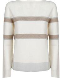Fabiana Filippi Mad221w015f451vr1 wolle sweater - Weiß
