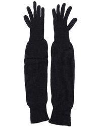 Prada Wool Gloves - Grey
