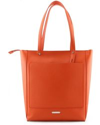 Rebecca Minkoff - Orange Leather Tote - Lyst