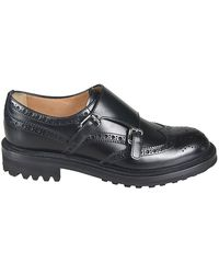 Church's Leather Monk Strap Shoes - Black