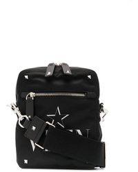 Valentino Black Synthetic Fibres Messenger Bag
