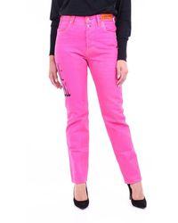 Heron Preston Fuchsiafarbene gerade jeans - Pink