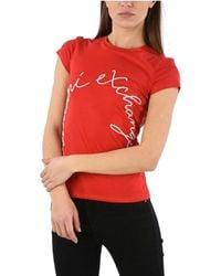 Armani Exchange Cotton T-shirt - Red