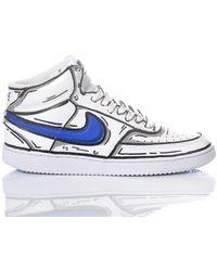 Nike Comicsblue1982 leder hi top sneakers - Weiß