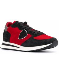 Philippe Model Leather Sneakers - Red