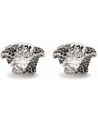 Versace Medusa Manschettenknöpfe mit Kristallen - Mettallic