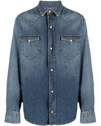 Alanui Classic-collar Denim Shirt - Blue
