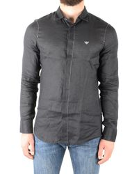 Emporio Armani Cotton Shirt - Black