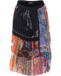 Desigual - Multicolour Polyester Skirt - Lyst