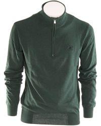 Beverly Hills Polo Club Green Wool Jumper