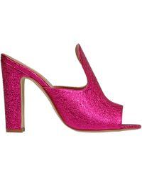 Paris Texas Fuchsia Leather Heels - Multicolour