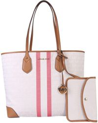 Michael Kors Eva Tote Bag With Logo - White