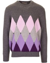 Ballantyne Grey Cashmere Jumper - Gray