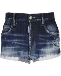 DSquared² ANDERE MATERIALIEN SHORTS - Blau