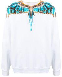Marcelo Burlon Sweatshirt mit Flügel-Print - Weiß