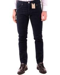 Siviglia Cotton Trousers - Blue