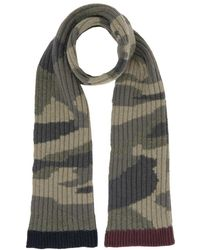 Valentino Camouflage Print Scarf - Green