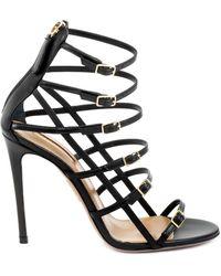 Aquazzura Super Model Sandals In Black