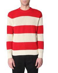 AMI Gestreifter Pullover - Rot