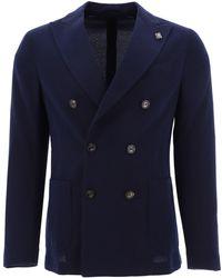 Lardini Wool Blazer - Blue