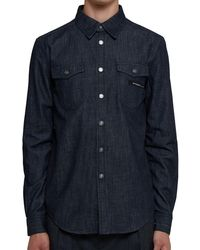 Givenchy Blue Denim Shirt