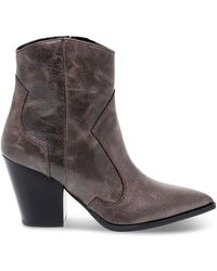 Janet & Janet Brown Leather Ankle Boots