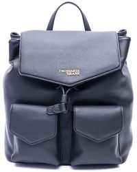 Trussardi Black Polyester Backpack