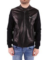 Rrd Black Leather Outerwear Jacket