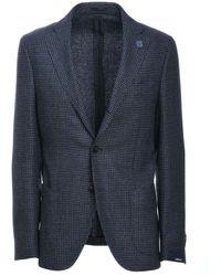 Lardini Blue Wool Blazer