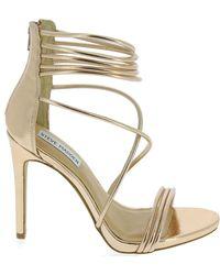 Steve Madden Gold Leather Sandals - Metallic