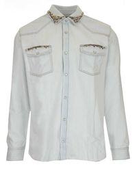 Golden Goose Gmp00487p00041150100 andere materialien hemd - Weiß
