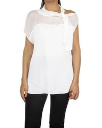 Pinko White Viscose Blouse