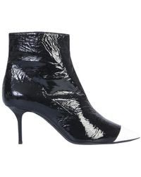 MSGM - Glossy Boot With Contrast Tip - Lyst