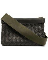 Bottega Veneta Leather Messenger Bag - Green