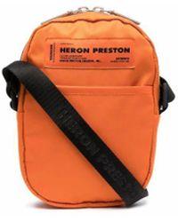 Heron Preston Kuriertasche mit Logo-Patch - Orange