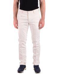 Incotex White Cotton Trousers
