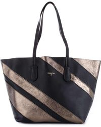 Patrizia Pepe Silver/black Leather Handbag