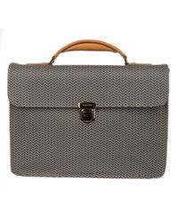 Zanellato Brown Leather Briefcase